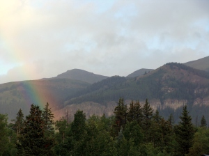 A beautiful rainbow a couple days before I left