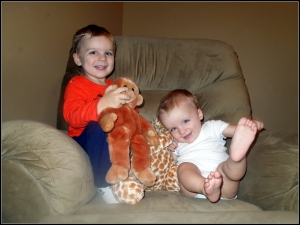 both boys animal pics