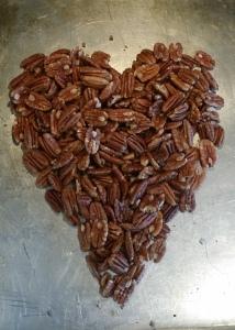 heart shaped pecans