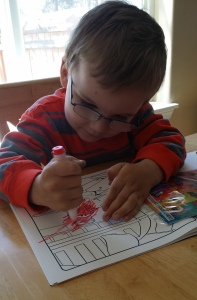Kelvin 3 Birthday coloring